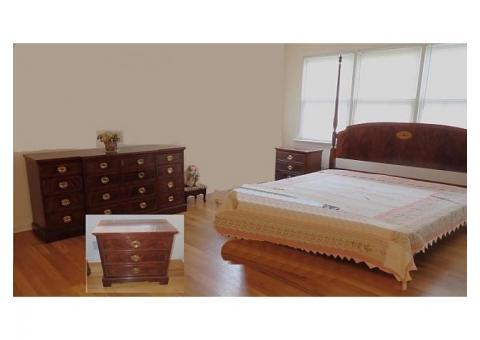 4 Piece Solid Wood Heckman Bedroom